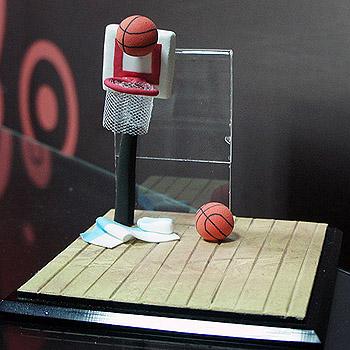 籃球火單人公仔場景(含防塵框)